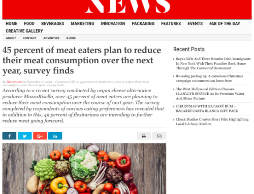 45 percent of meat eaters plan to reduce their meat consumption over the next year, survey finds